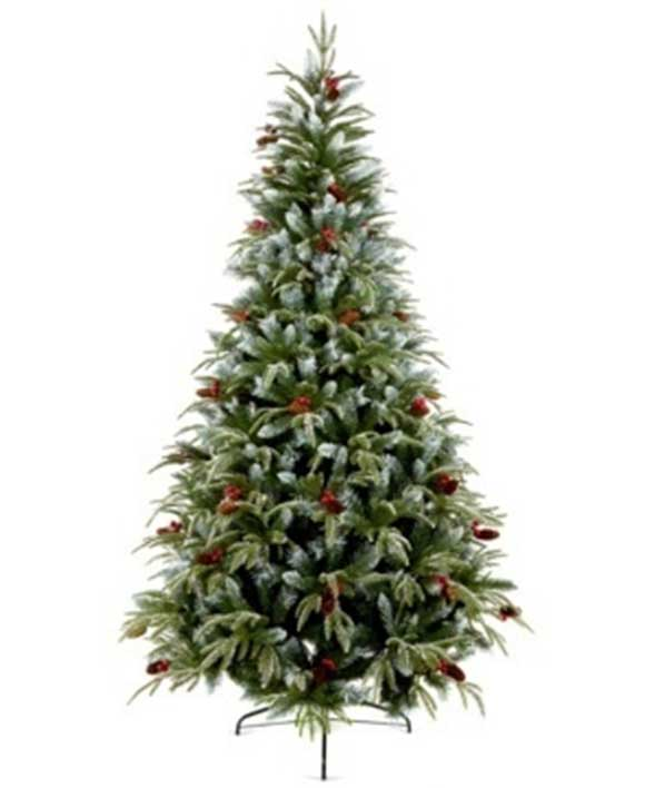 6 Feet Artificial Noble Fir Christmas Tree With Pines