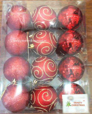 assorted christmas balls