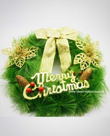 Traditional Gold Christmas Wreath