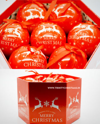 Christmas baubles Red