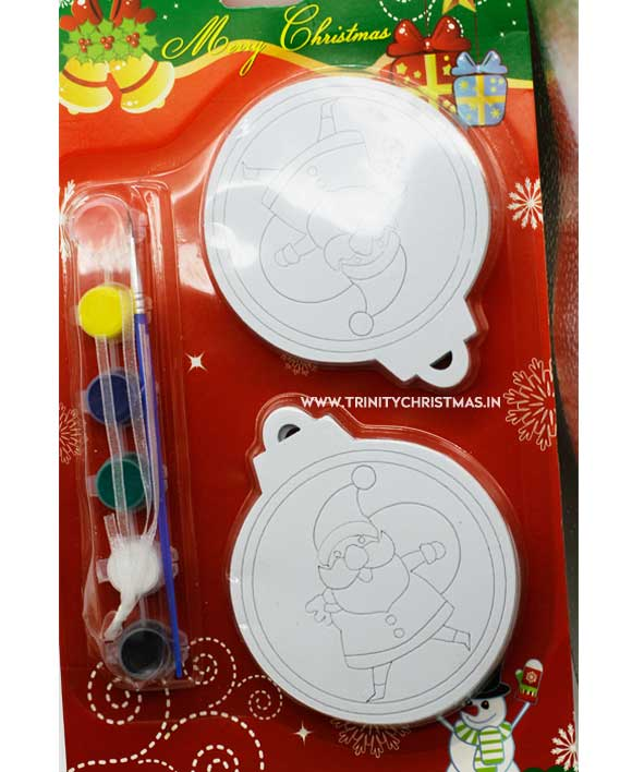 Diy Christmas Canvas Painting Set With Acrylic Paint And Brush For Kids Gift Children Trinity