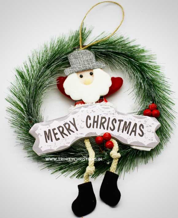 Snow Christmas Wreath