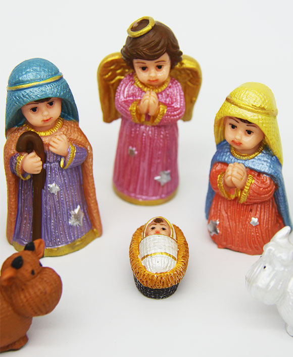 Miniature Kids Nativity Set
